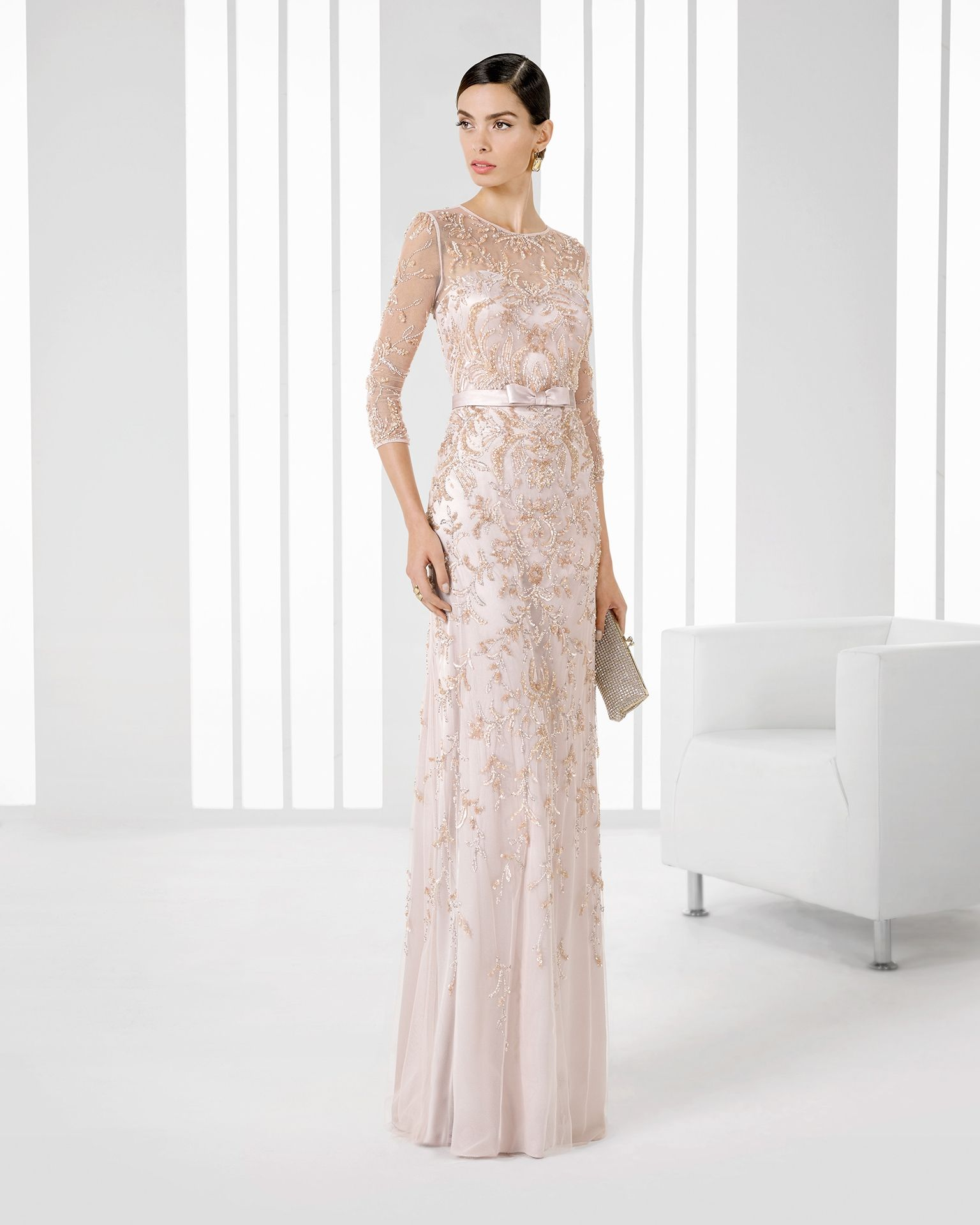 Vestidos para madrina de boda de rosa clara