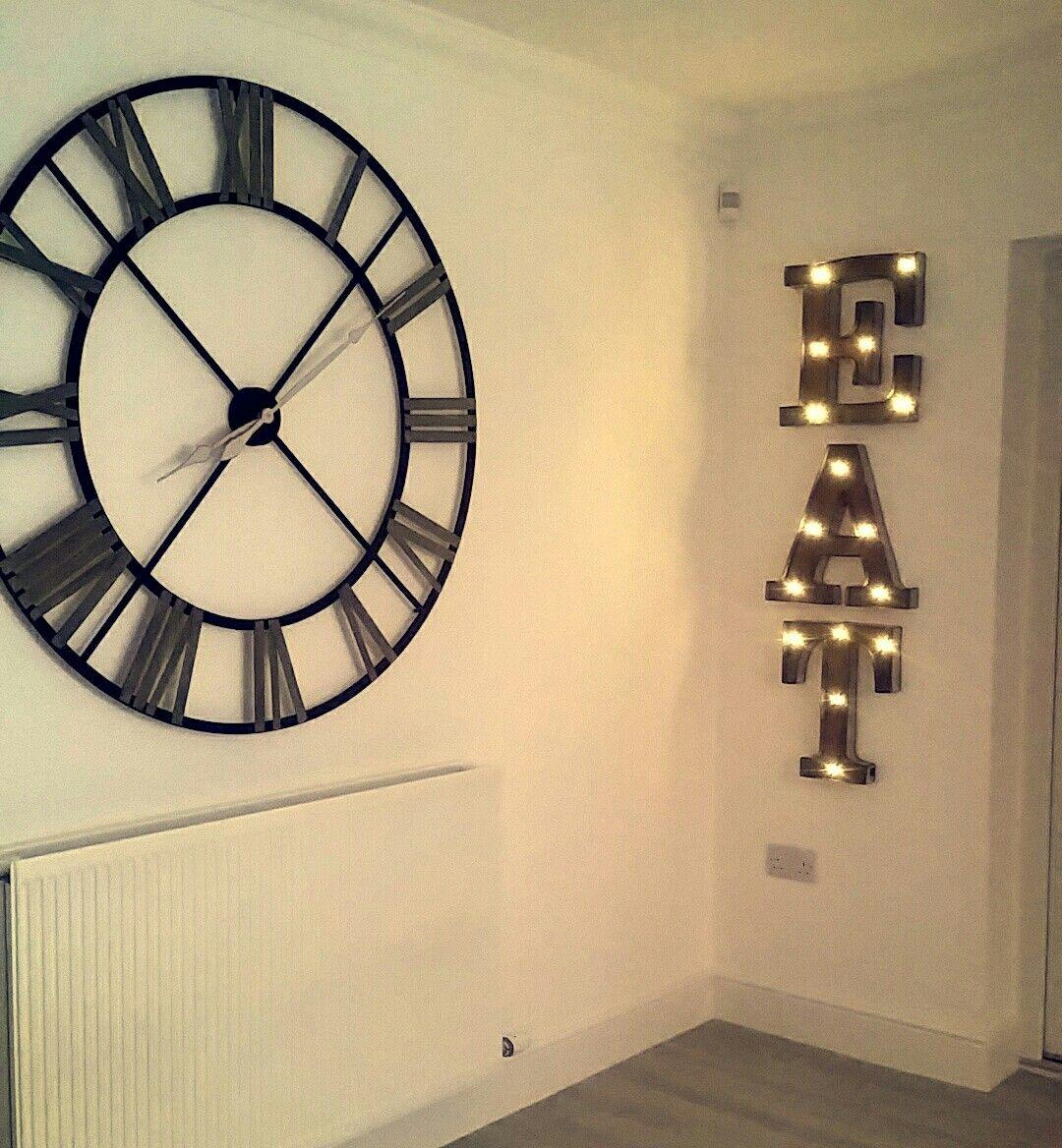 Large wall clock light up signs | CLOCK DECOR | Pinterest | Wall ...