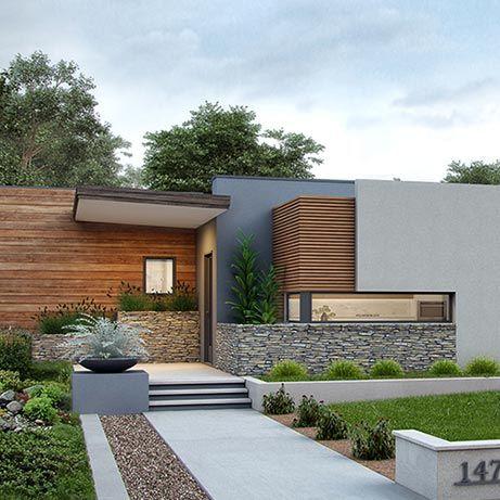 High Performance Floor Plans Point Zero Homes Facade House House Exterior Modern Villa Design
