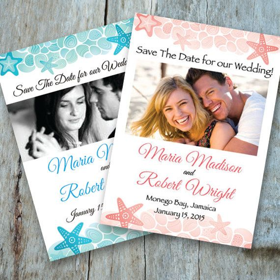Save The Date Destination Wedding Card Or Magnet Printable PDF Customize With Your Photo