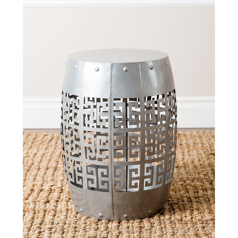 Brilliant Accent Any Room With The Gladstone Silver Round Garden Stool Inzonedesignstudio Interior Chair Design Inzonedesignstudiocom