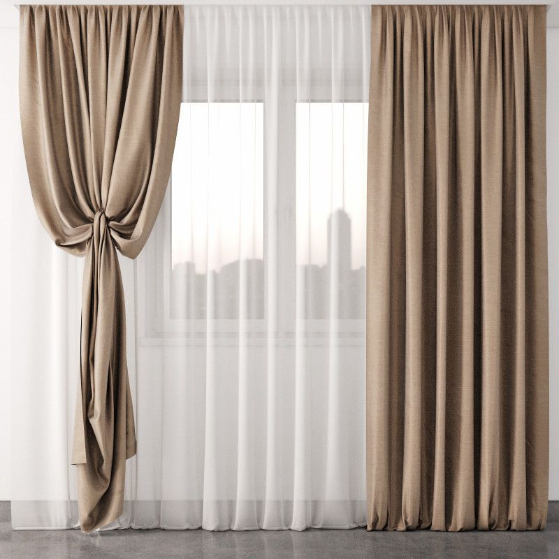 Curtain 3d Max 3d Model Living Room Decor Curtains Curtains