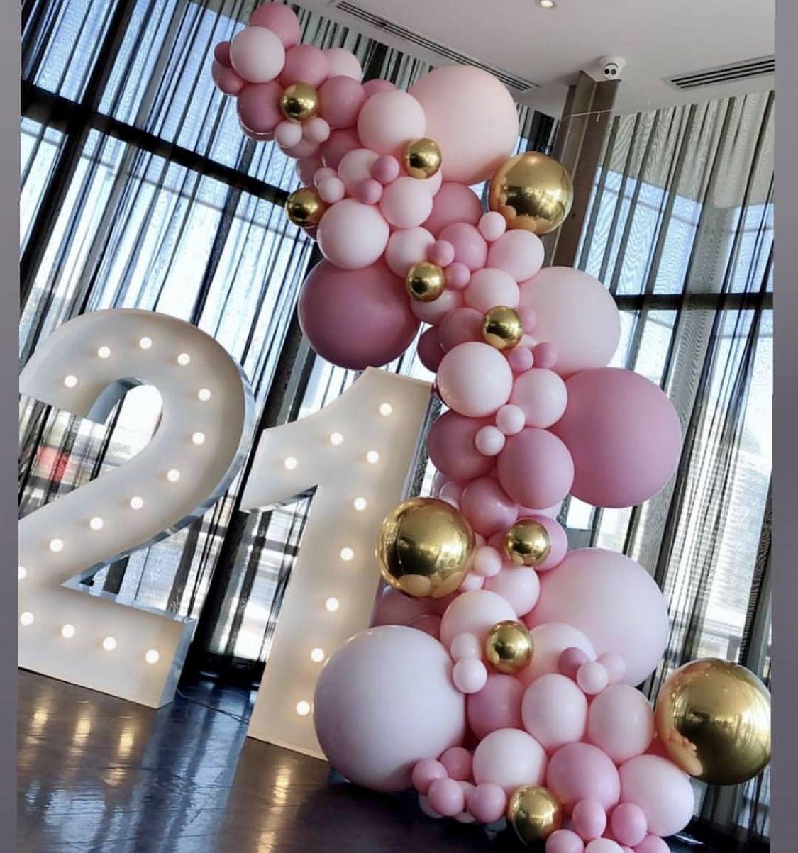 "Baby Shower Connoisseur's Instagram profile post: ""Cheers to 21 years �� @boutiqueballoons.melbourne . . #balloonstylist #losangeles #birthday #21stbirthday #partyideas #babyshower #love #…"""