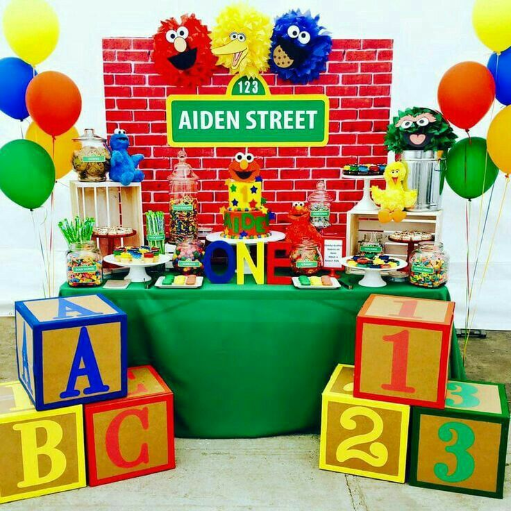 d75c49630257e Pin by Erika Ortiz on jose 1st birthday in 2019 | Sesame street ...