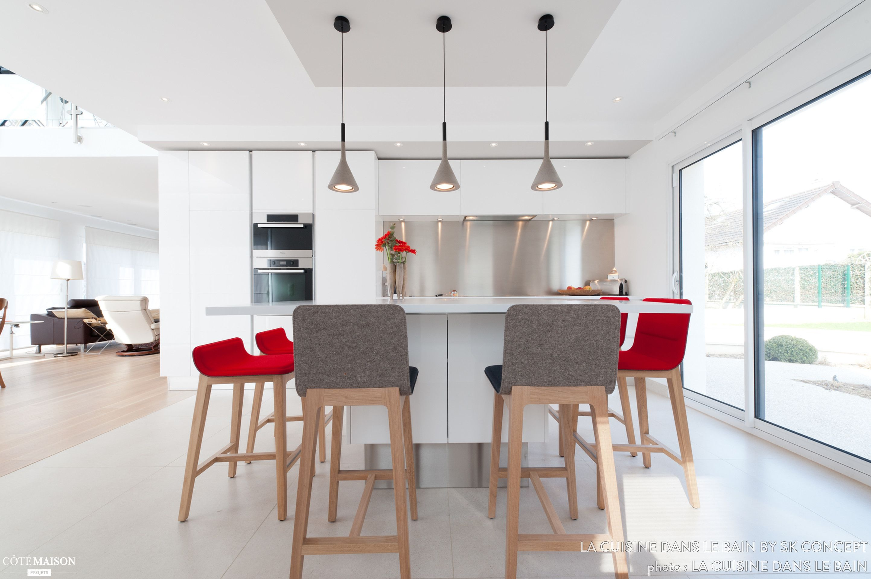 Ilot Central Table Lapeyre ~ Total Home Design Cuisine Projet Cuisine Design Italien Total