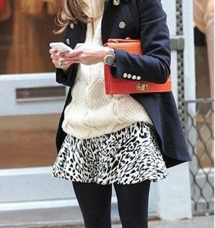 Not diggin the print on the skirt but love the rest.