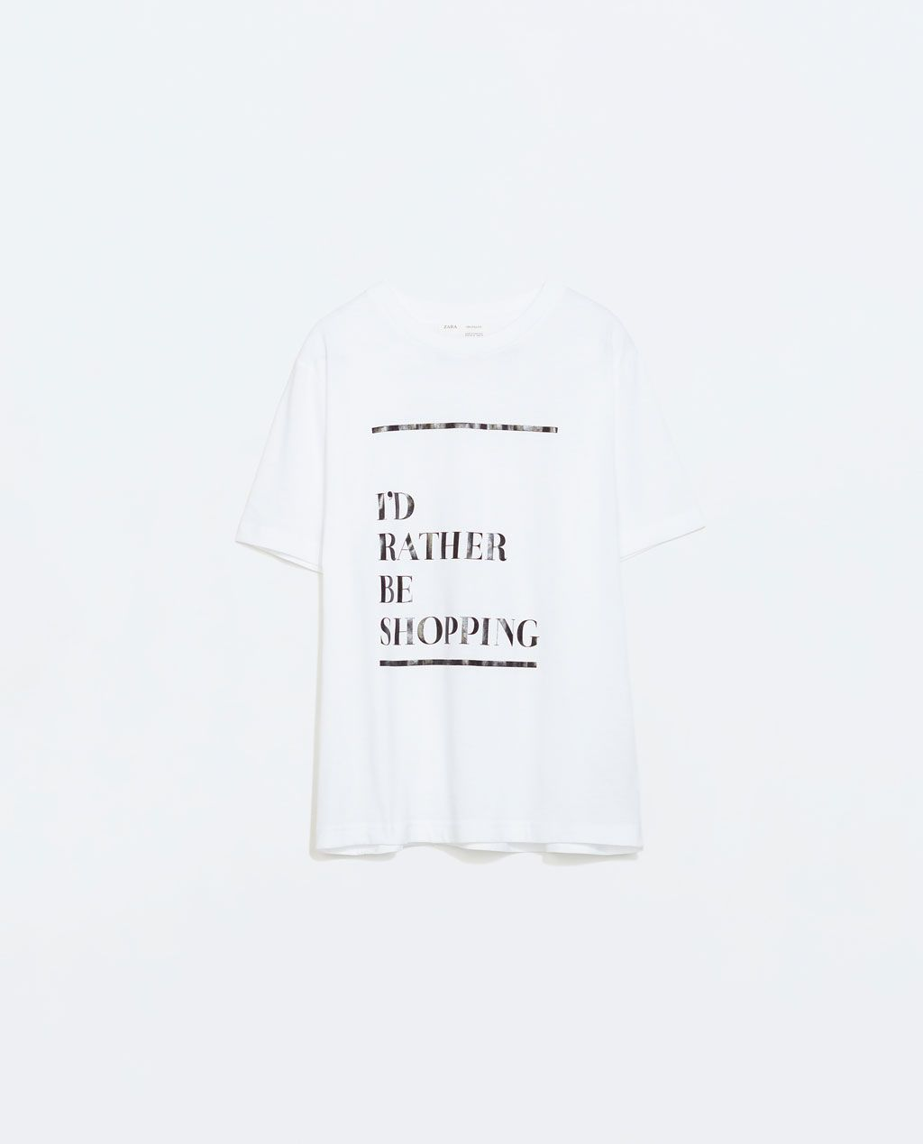 ZARA - SPECIAL PRICES - SLOGAN T-SHIRT