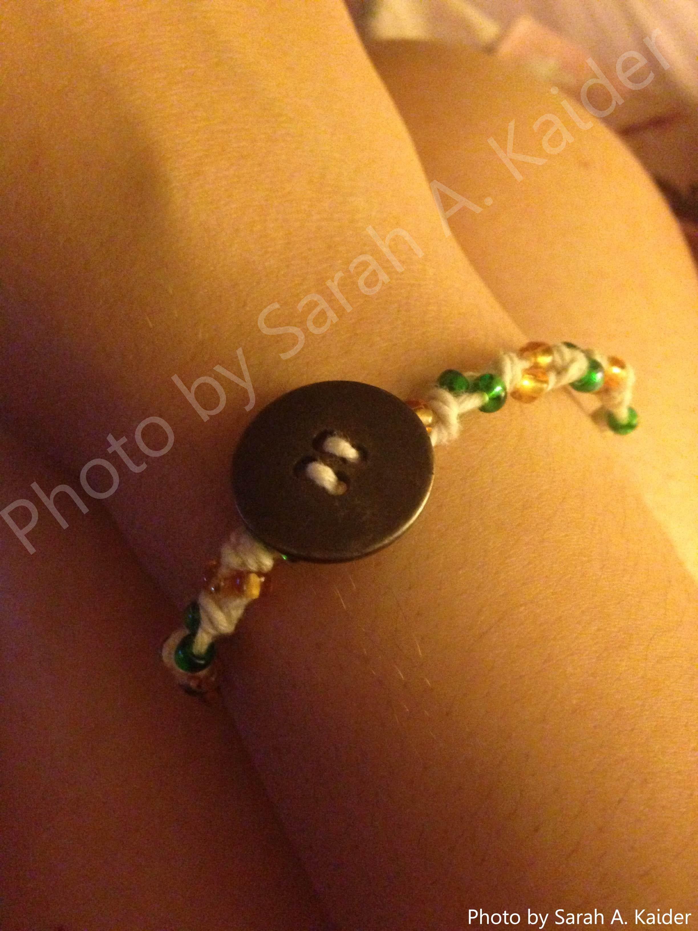 I made this bracelet today, 4/11/13.