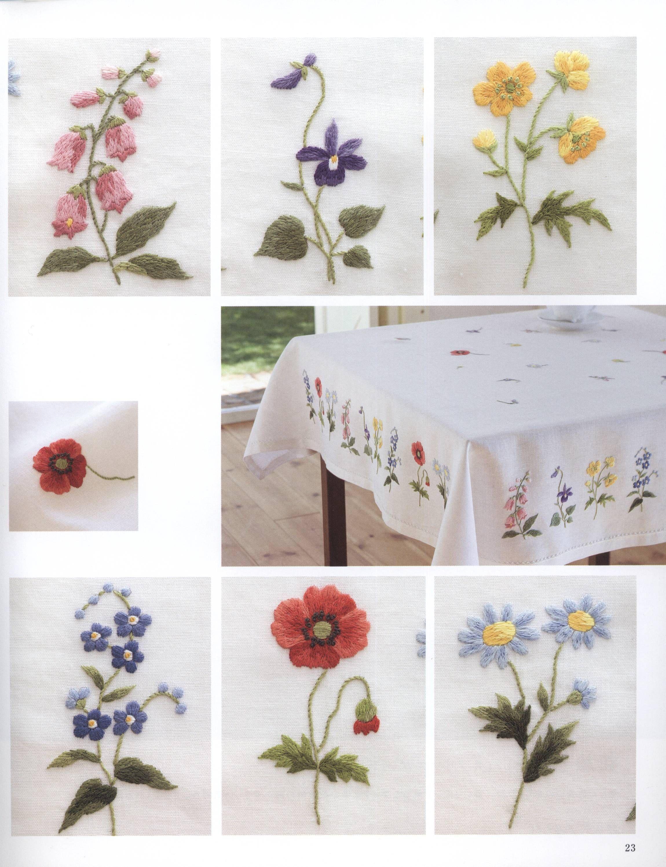 скатерть цветы manteleria pinterest embroidery