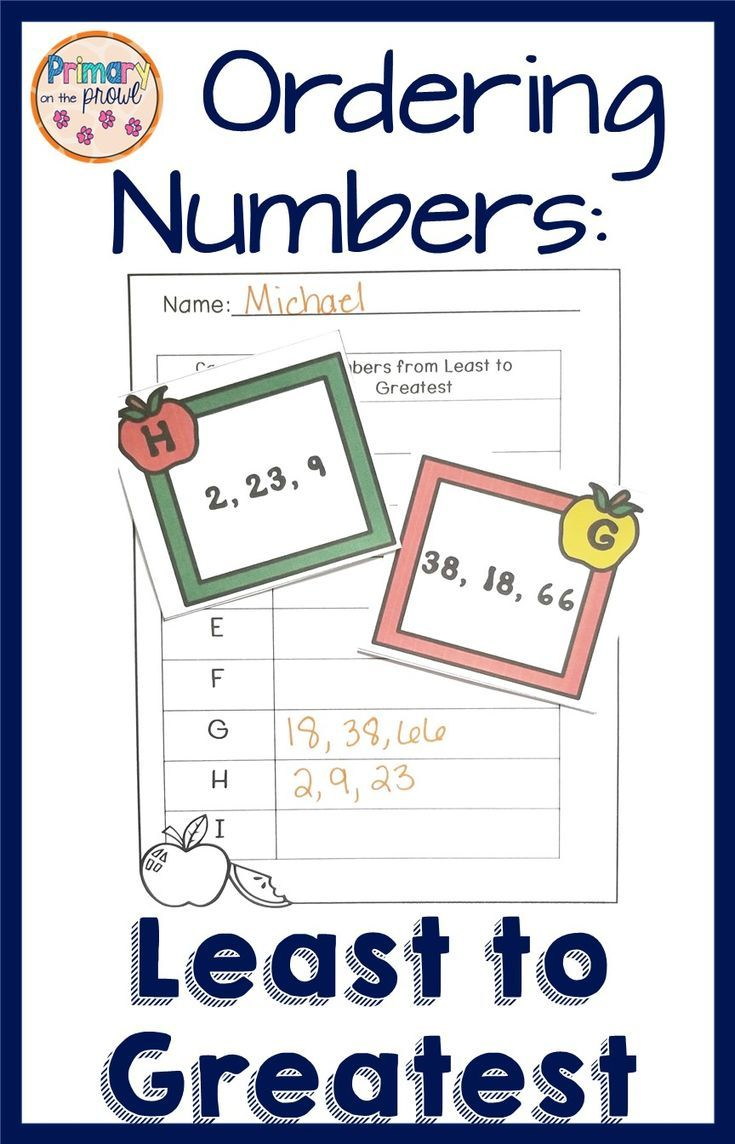 Number order least to greatest ordering numbers first