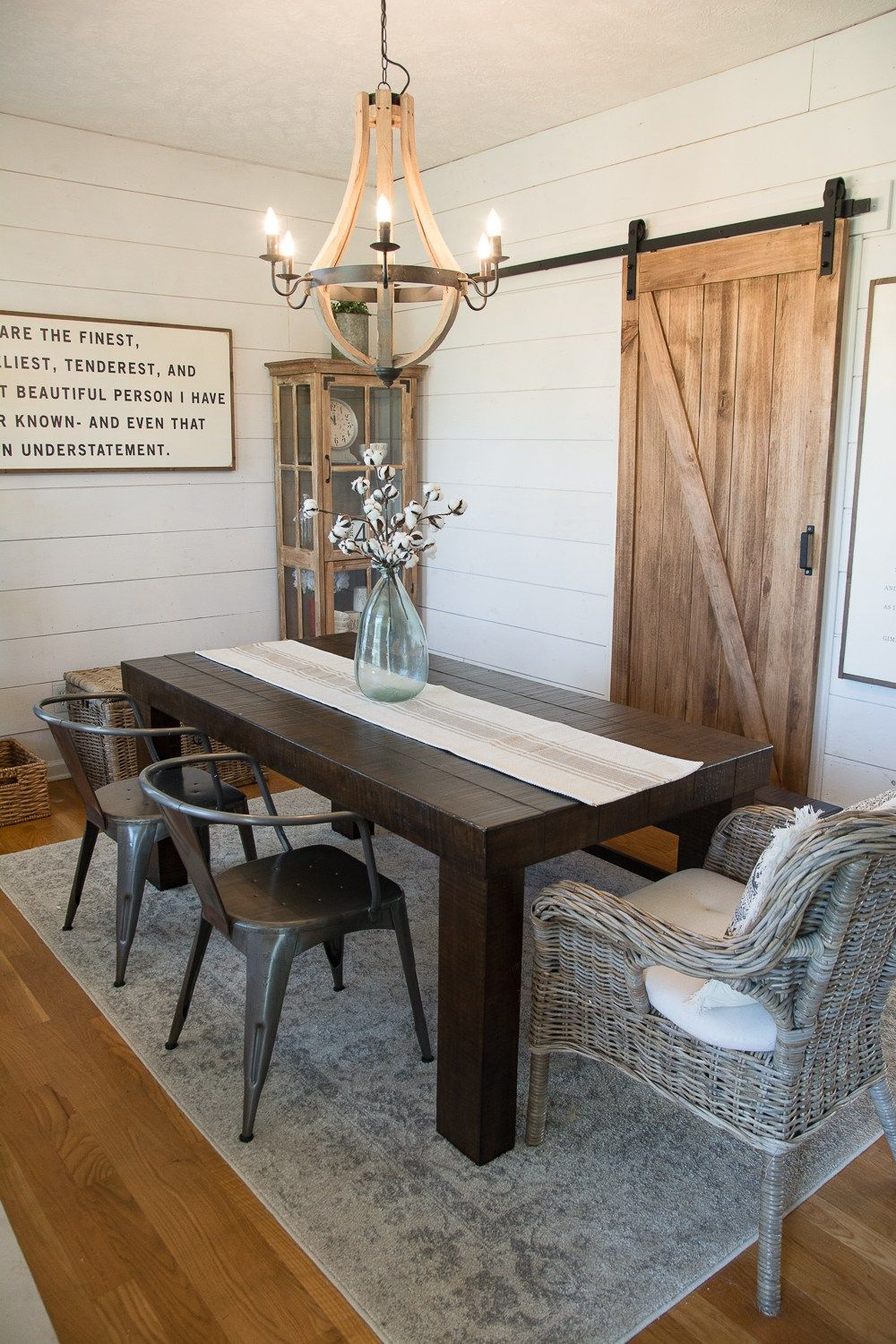 An Affordable Diy Farmhouse Dinning Room How We Turned An Ordinary House Into A Stylish Farmhouse Style Dining Room Dining Room Remodel Farmhouse Dining Room