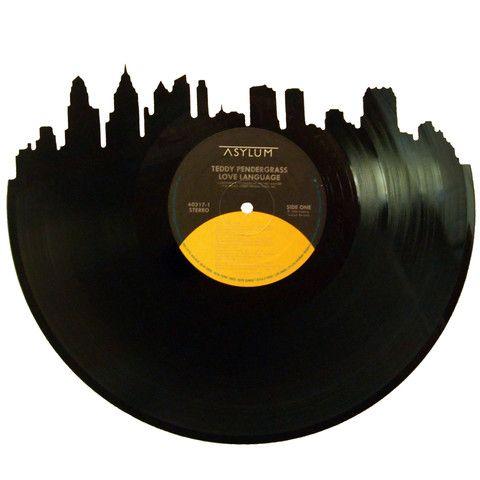Atlanta Skyline Vinyl Record Art