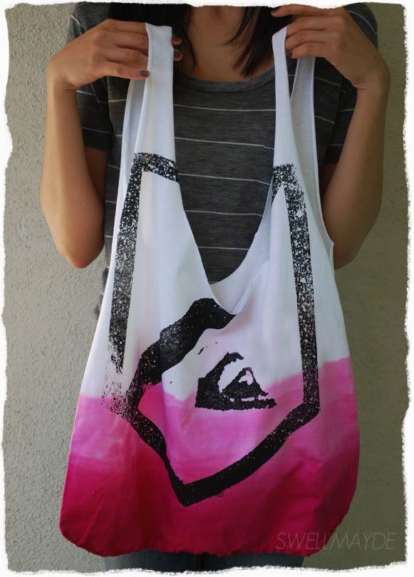quiksilver/roxy t-shirt tote bag