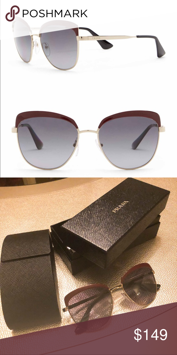 eb0bcc6942 Prada 56 mm square catwalk sunglasses Prada 56mm square catwalk sunglasses  in pale gold color. New in box and tags. Prada Accessories Sunglasses