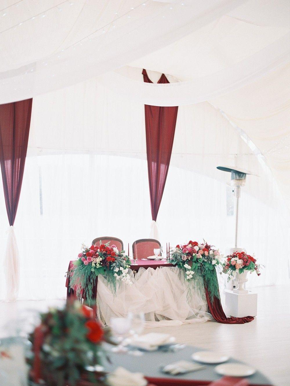 декор украшение оформление шатра зала на свадьбу wedding decor red ...