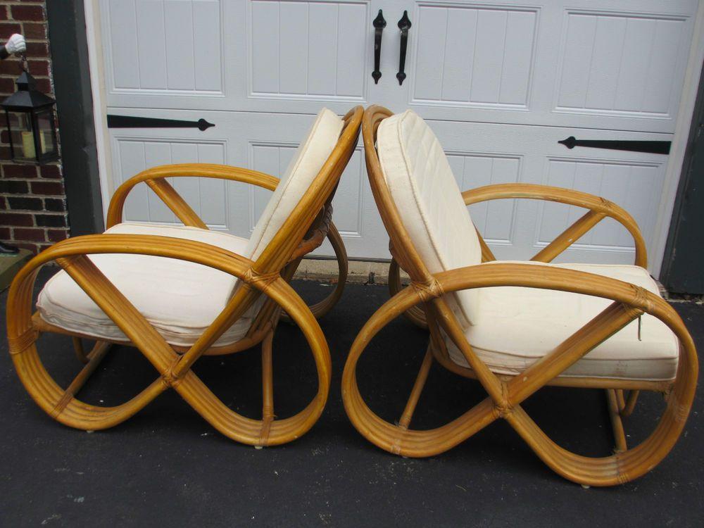 Strand Rattan Paul Frankl, Paul Frankl Rattan Furniture