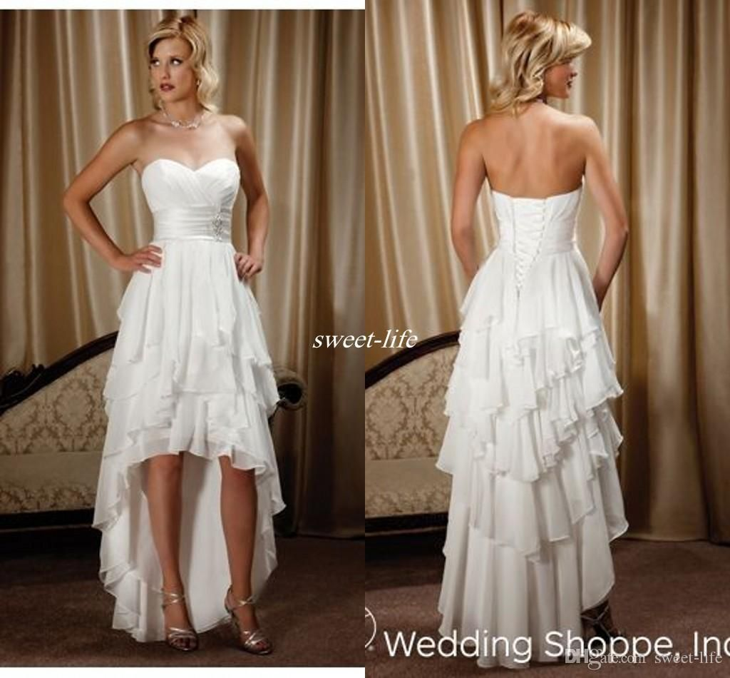 High low country western wedding dresses sweetheart backless lace up