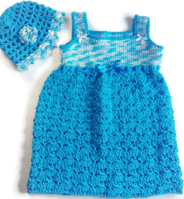 I'm selling Toddler's Turquoise and White Sundress and Matching Hat - $35.00 #onselz