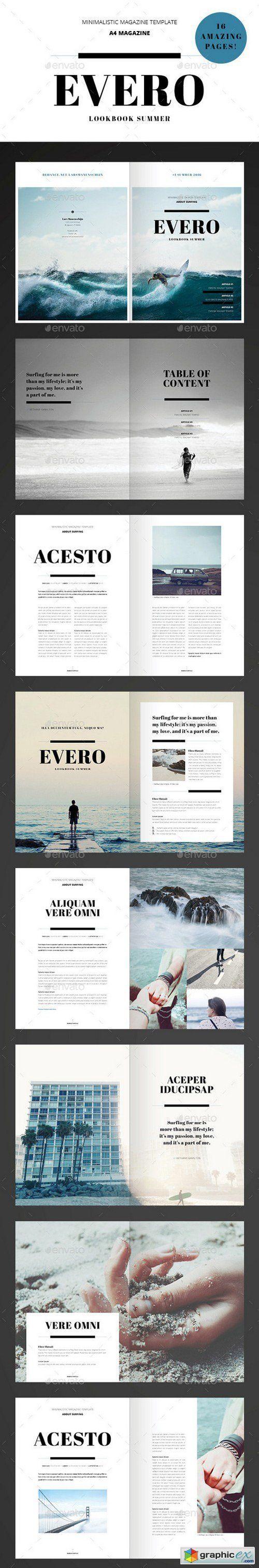 Amazing Minimal Magazine Indesign Template … | Graphic | Design ...