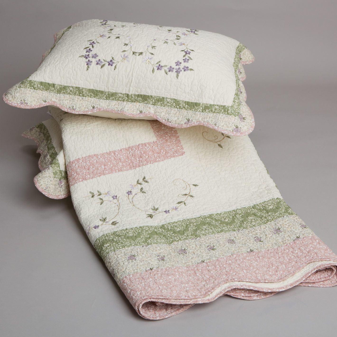 Lavina Embroidered Coverlet Sets