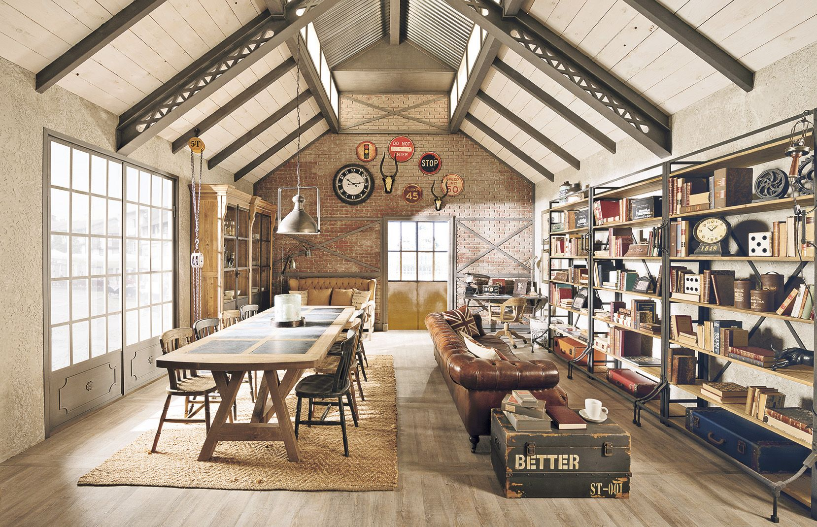 Arredamento country vintage industrial loft urban for Country house arredamento