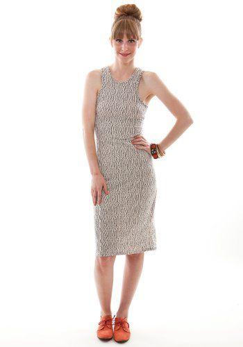 Textured Bodycon Midi Dress