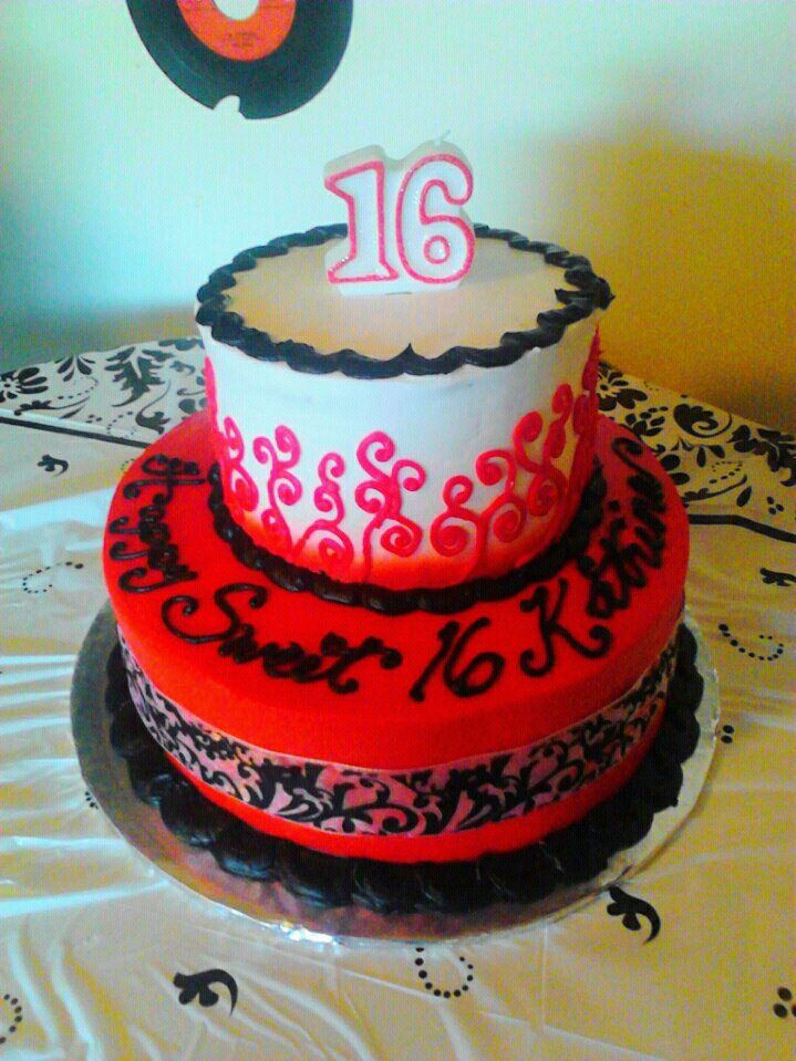 My Daughters Sweet 16th B Day Cake I Got It At Walmart