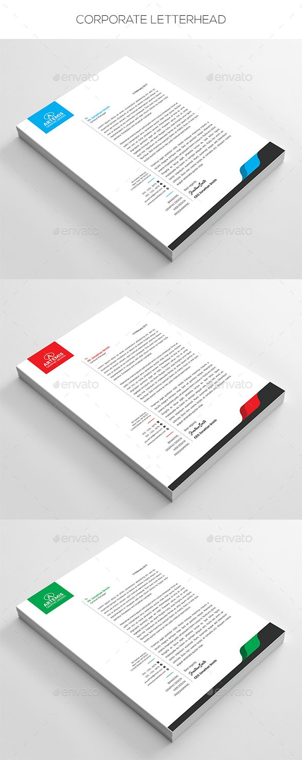 Corporate Letterhead  Stationery Printing Print Templates And