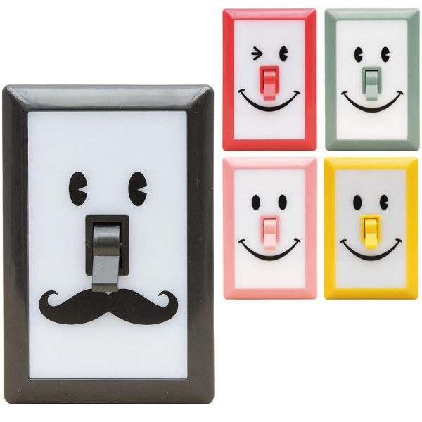 Led Lights Switch: Smile Switch, LED Wall Night Lights,Lighting