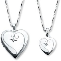 Sales Jared MotherDaughter Necklaces Diamond Accent Sterling Silver
