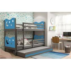 Photo of Stylefy Ola avec lit d'appoint lit superposé 80×190 cm bleu graphite