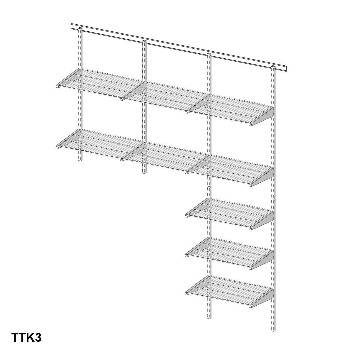 Heavy Duty Wall Mounted Wire Shelving   http://bottomunion.com ...