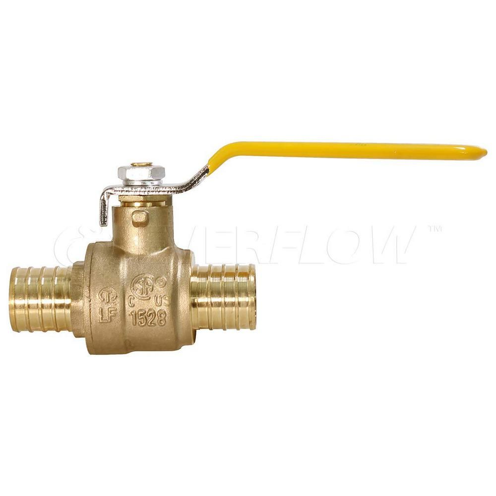 The Plumber S Choice 1 2 In Full Port Pex Barb Ball Valve Water