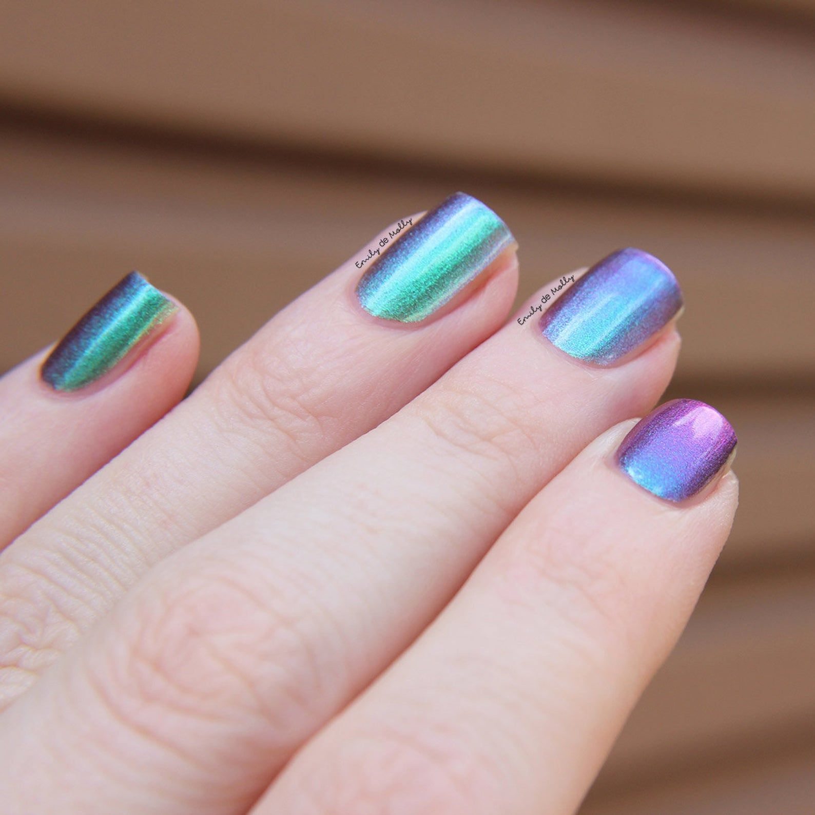 Nail polish Near And Far A green / blue / purple Etsy