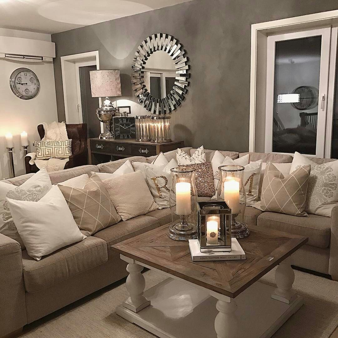 Love how the soft glow of the candles makes this space feel cozy.