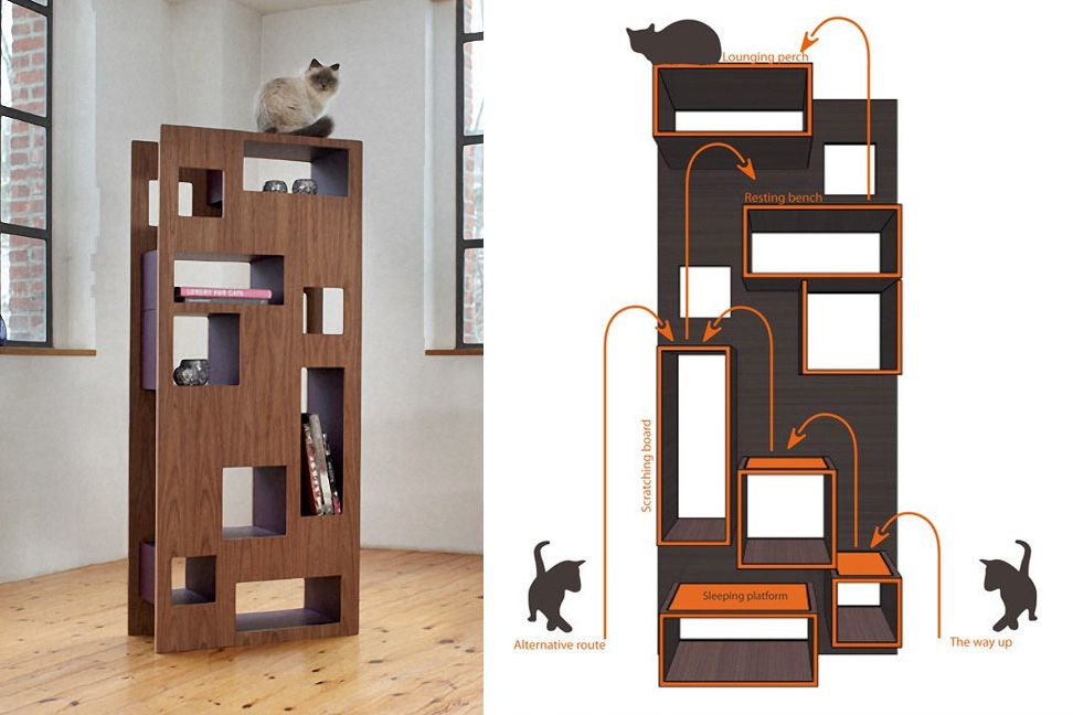 Cat accessories cat tree cat shelves and cat - Contemporary cat furniture ideas ...