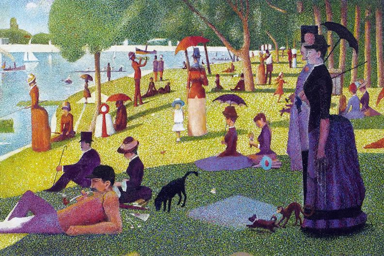 seurat sunday afternoon Other articles where a sunday on la grande jatte—1884 is discussed: georges seurat:in preparation for his masterpiece, a sunday on la grande jatte—1884 in december 1884 he exhibited the baignade again, with the société des artistes indépendents, which was to be of immense influence in the development of modern art.