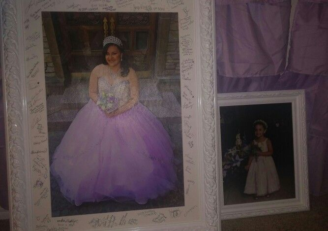 Signature picture frame | Sweet 16 Melanie\'s Party | Pinterest