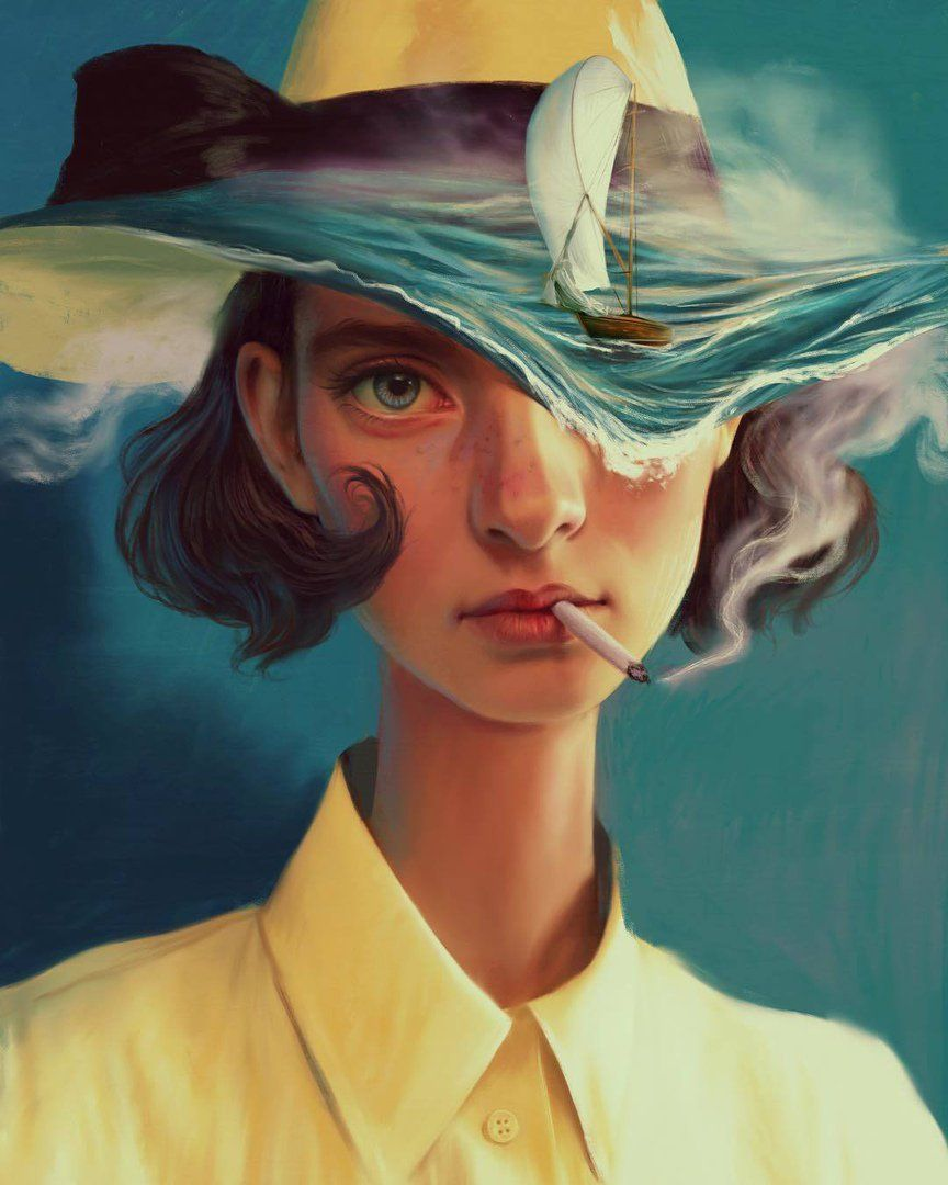 Resultado de imagen de Aykut Aydogdu' Mesmerizing Illustrated Female Portraits pinterest