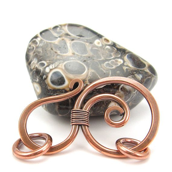 Round Copper Clasp Jewelry Finding WireWrapped by OzmayDesigns, $8.99