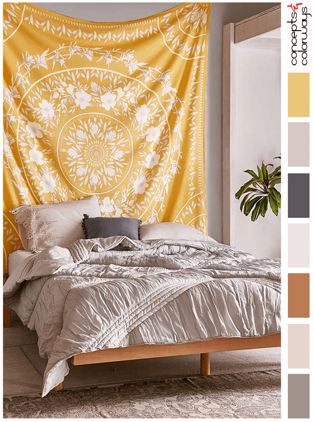 sunny tapestry palettes by project aesthetic rooms dorm decorations bedroom decor. Black Bedroom Furniture Sets. Home Design Ideas