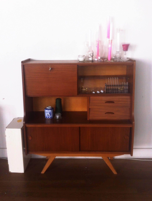 Originele Deense Vintage Kast Van Deens Grenen Furniture