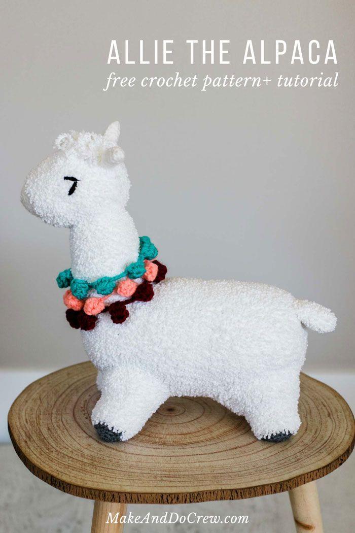 Crochet Alpaca (or Llama!) Toy - free pattern + tutorial | Crochet ...