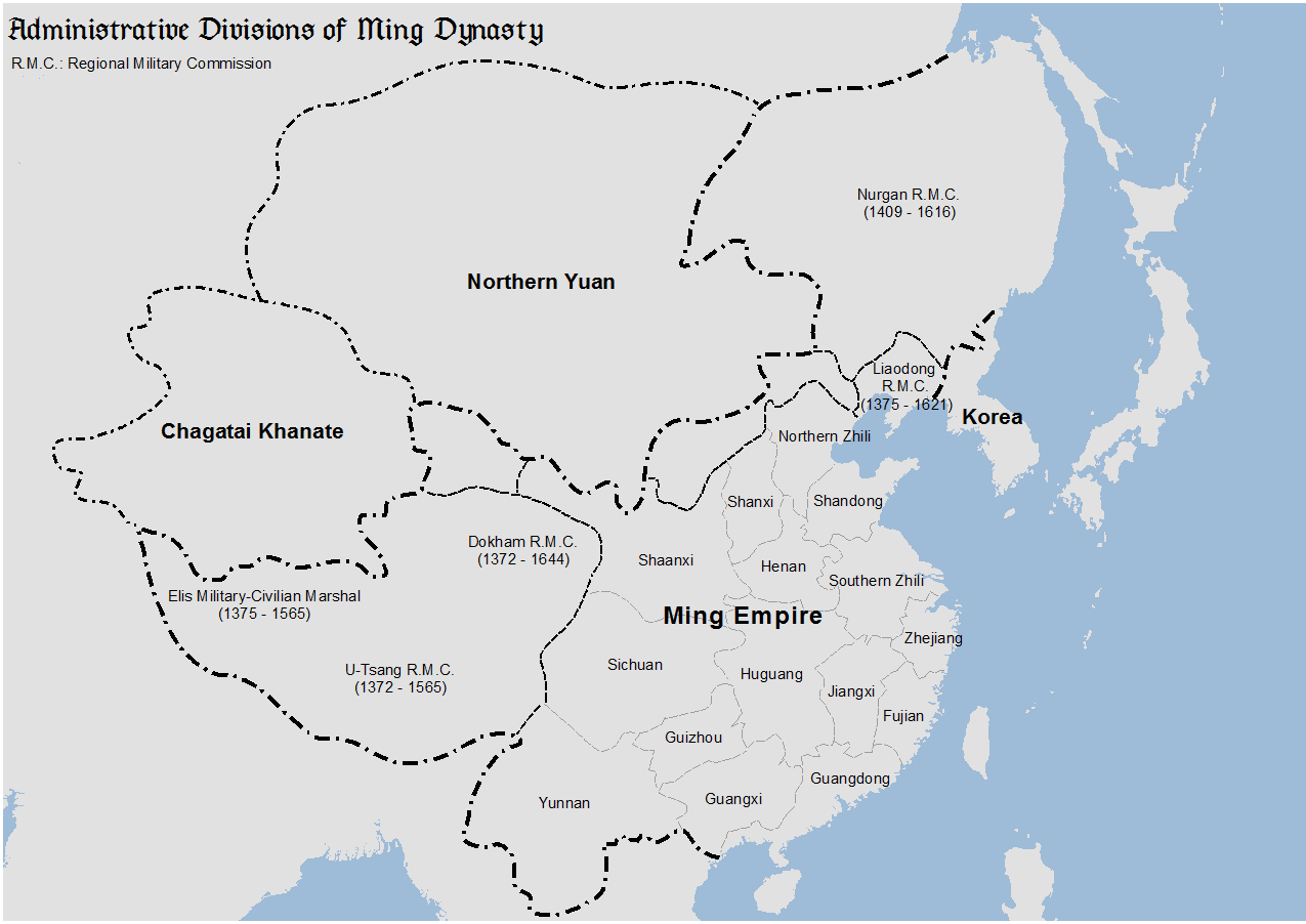 Administrative Divisions Of The Ming Dynasty