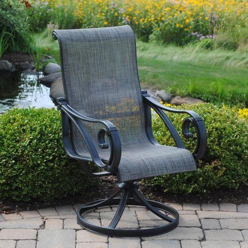 Backyard Creations® Boulder Creek Swivel Rocker Patio Chair