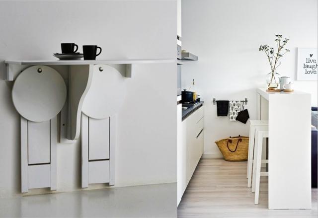 Idées Gains De Place Pour La Cuisine Blog Deco Deco Design Et - Table bar pour petite cuisine pour idees de deco de cuisine
