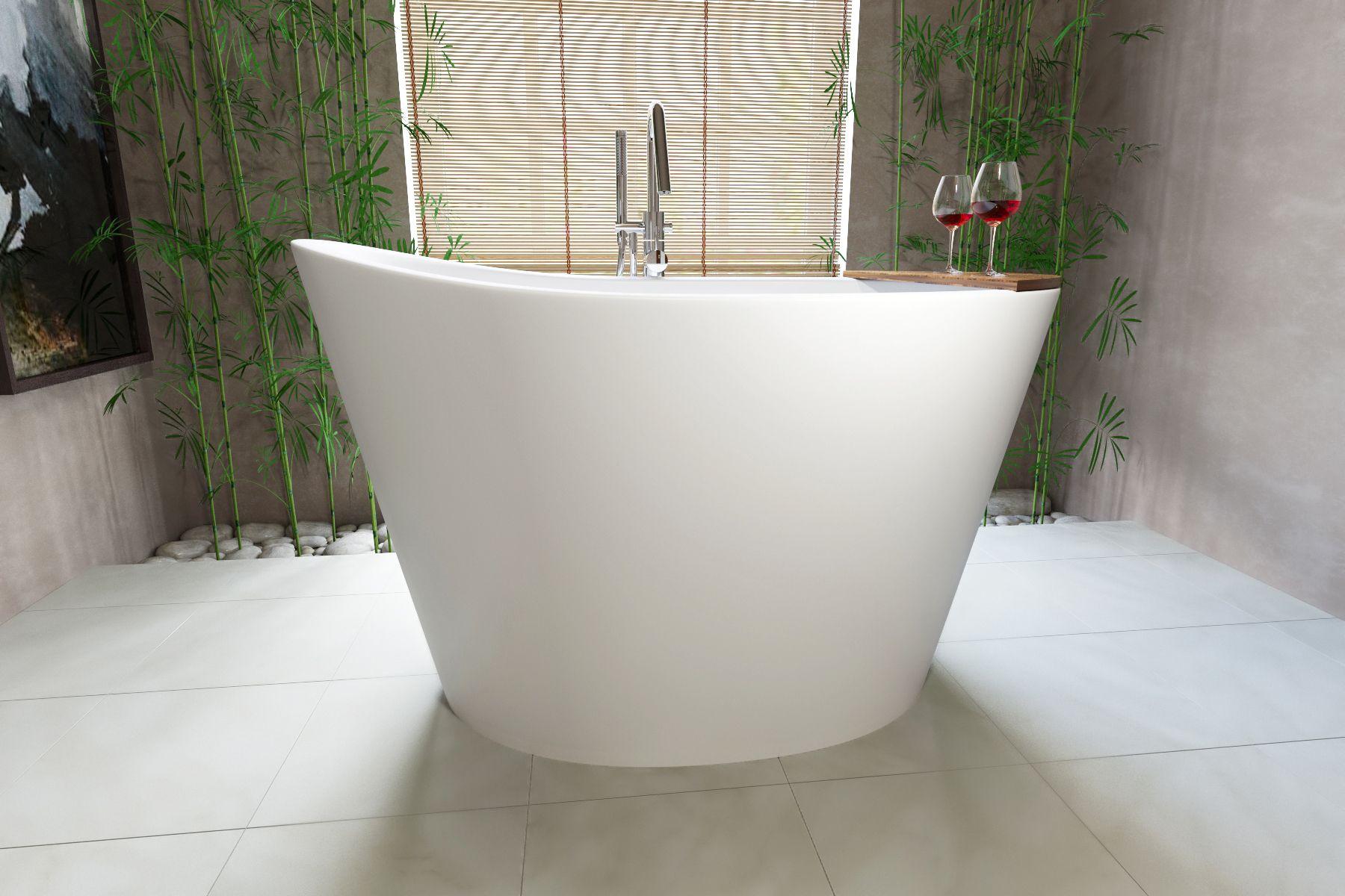Aquatica True Ofuro Freestanding Stone Anese Soaking Bathtub