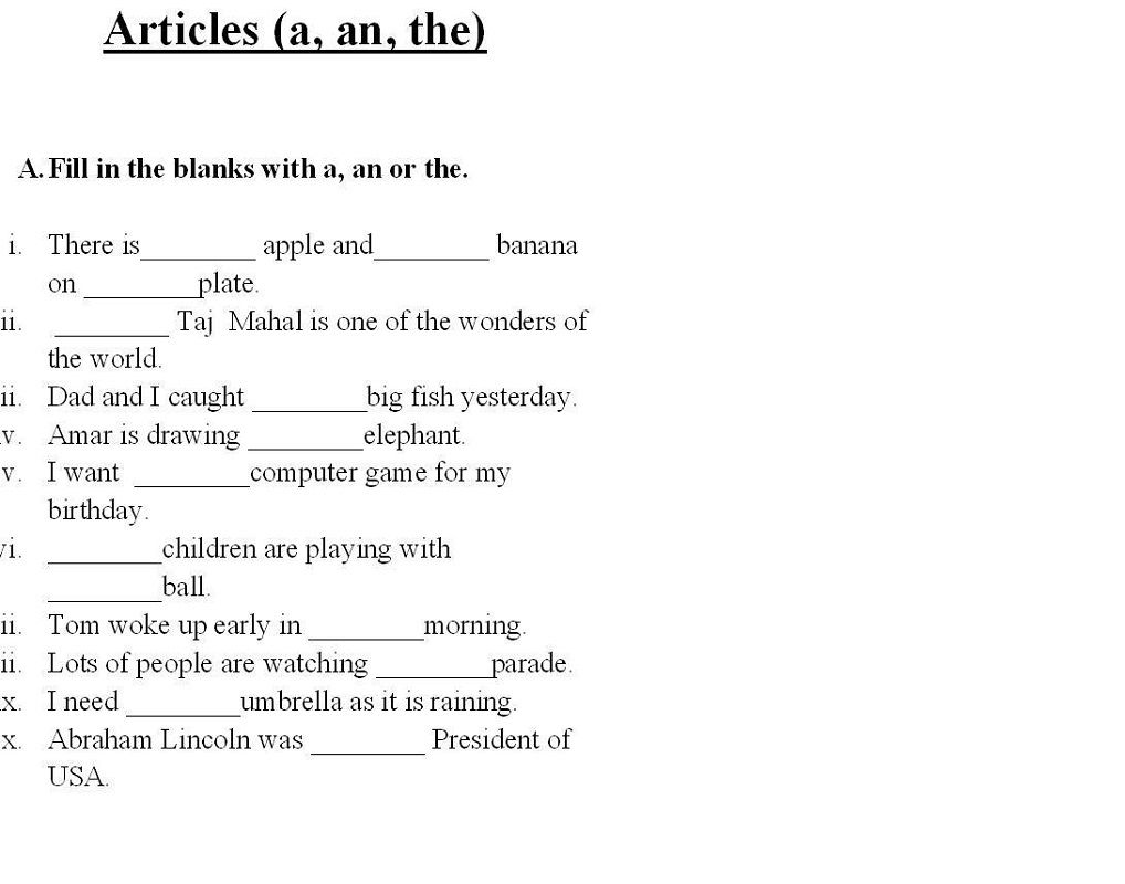 Worksheets For Grade 1 1st Grade Worksheets Grammar Worksheets