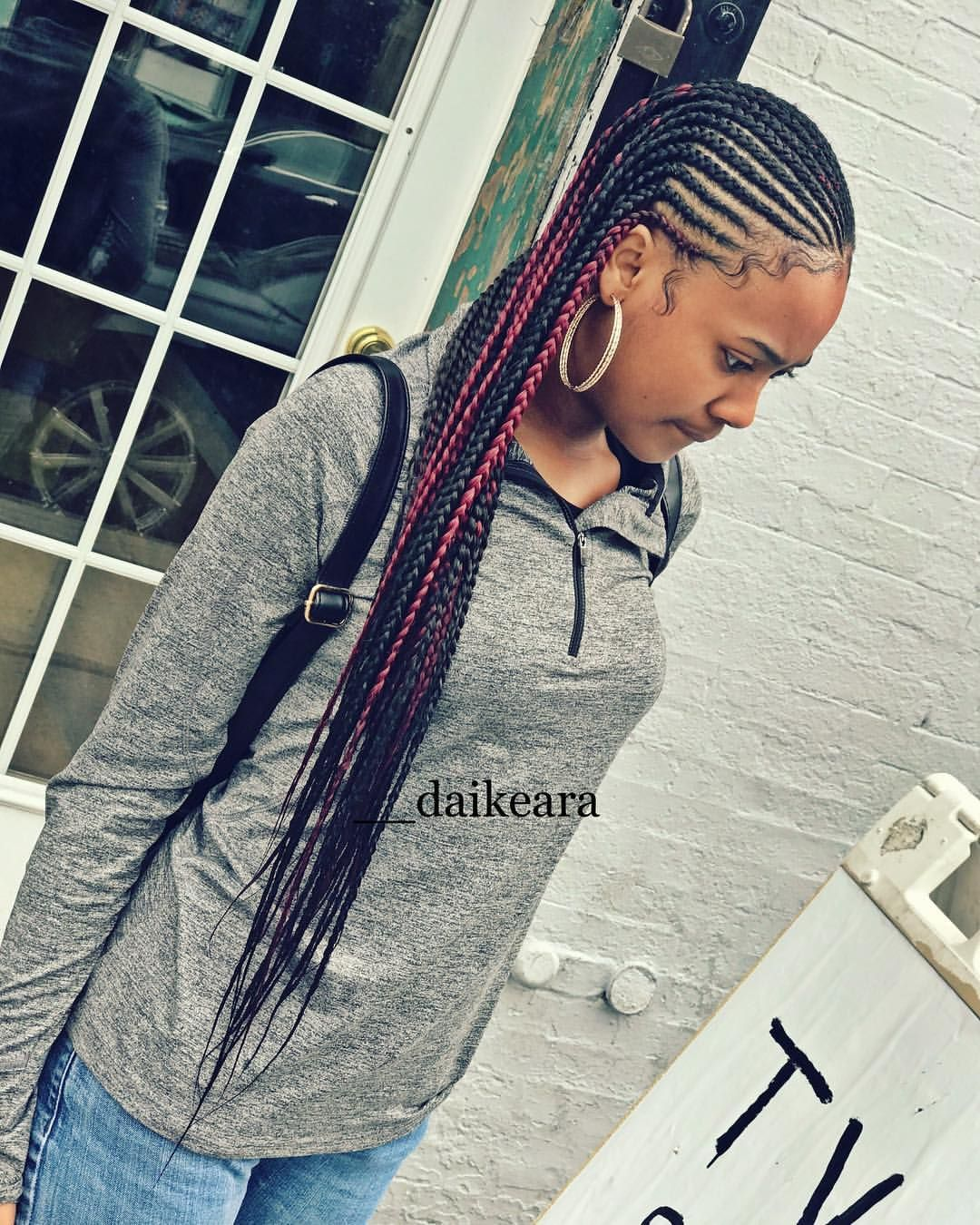 2 Layer Hair Styles Cornrows With Box Braids Braided Hairstyles