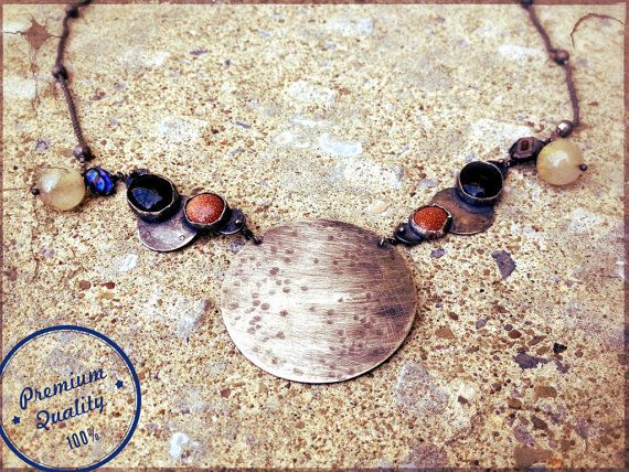 Harvest Moon Necklace by ScrapandSmith on Etsy, $167.00